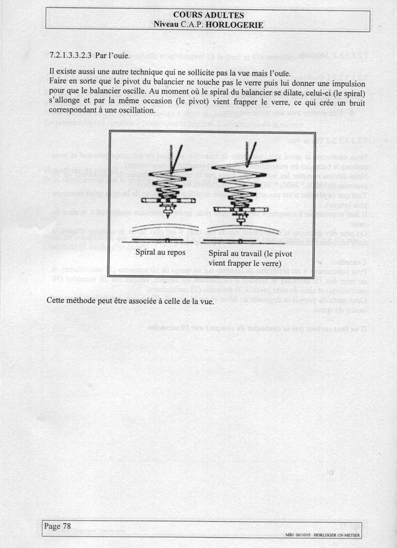 """Remplacer un spiral : """"comptage d'un spiral"""" Spiral7"""